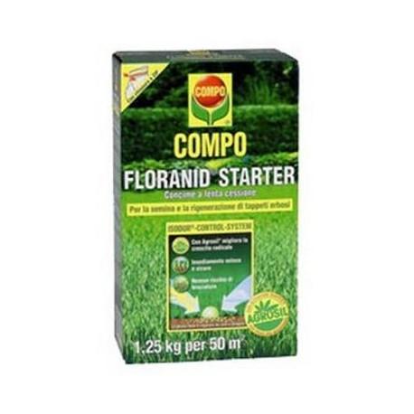 COMPO FLORANID STARTER CONCIME PRATO DA KG 1,25 PER 50 MQ