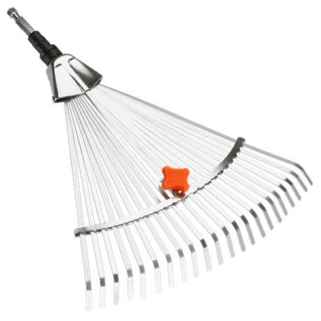 GARDENA Scopa per erba regolabile in acciaio combisystem ART.3103-20 Larghezza di lavoro 30 cm