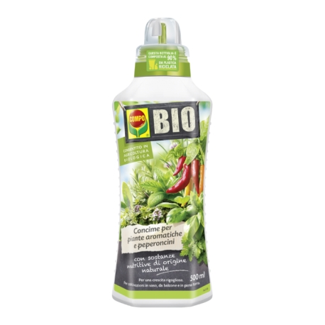 COMPO Bio Concime per Piante Aromatiche e Peperoncini 500 ml