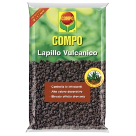COMPO Lapillo Vulcanico Confezione da 33 LT per Pacciamatura e Decorazione